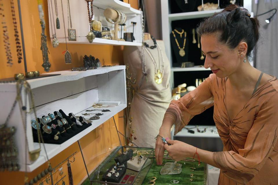 Jeweler Shadan Safavi at work.